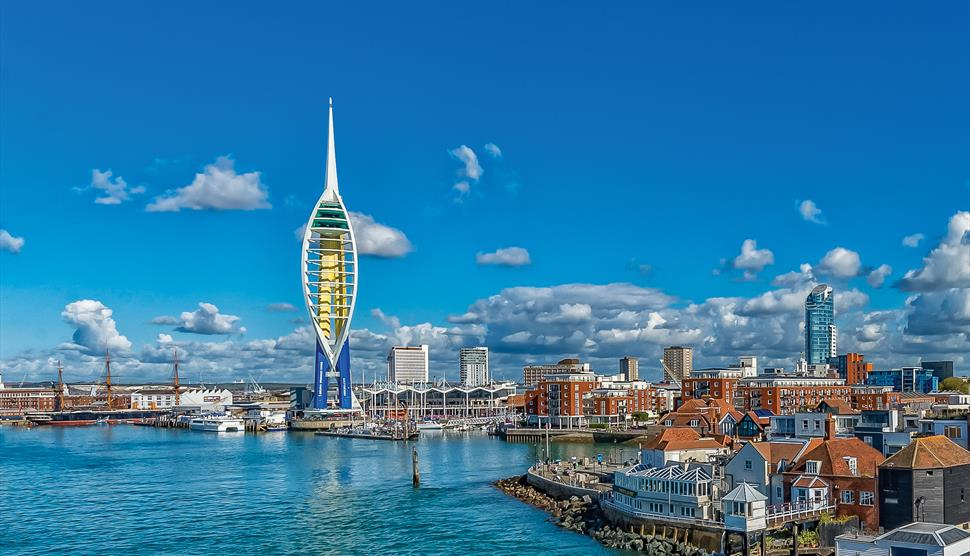 mouth of portsmouth harbour camber dock spice island spinnaker tower